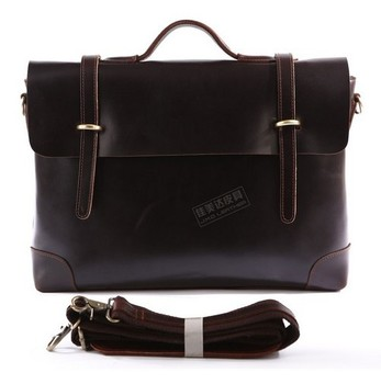 Travel Cowboy Vintage Leather Men's Briefcase Laptop Dispatch Tote Bag Versatiled Style men messenger bags J.M.D Free Shipping