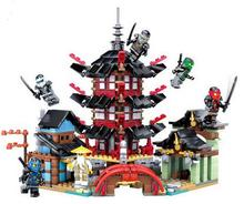 737pcs 2016 Bozhi 105 Ninjaoed Super heroes Temple of Airjitzu Building Blocks Toys Gift Minifigures brinquedos legeod(China (Mainland))