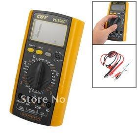 LCD Display AC DC Voltmeter Ammeter Ohmmeter Digital Multimeter VC-890C+<br><br>Aliexpress
