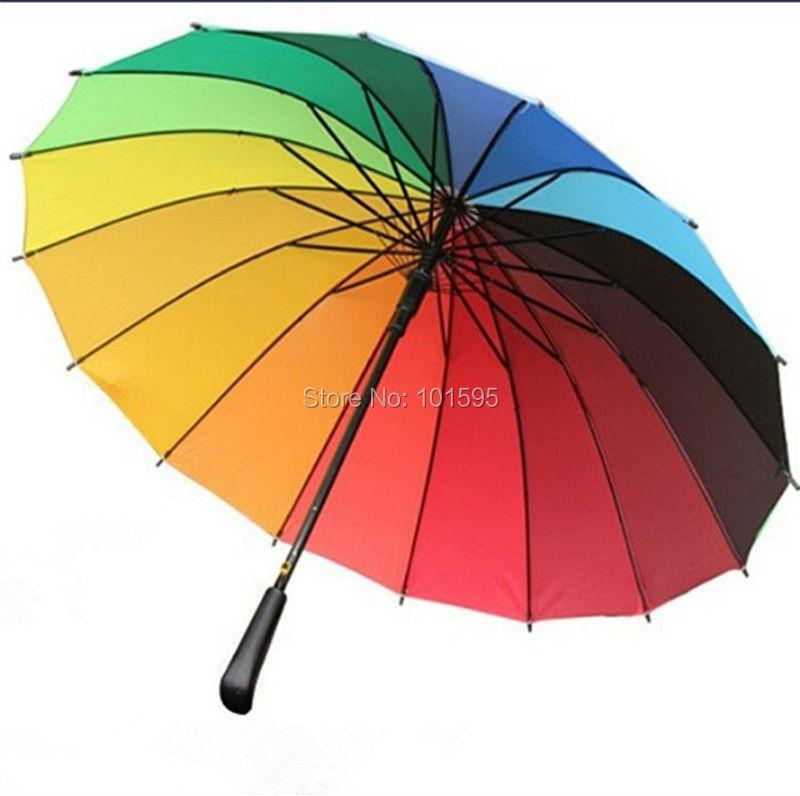 new exquisite colorful umbrellas aautomatic rainbow