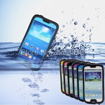 Free shipping 10pcs/lot iPega Waterproof Mobile Phone Box Cover Case for Samsung Galaxy S3 Siii i9300/S4 S IV i9500(China (Mainland))