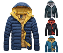New Mens Smart Fashion Hooded Quilted Padded Puffer Jacket Mod Thick Winter Coat(China (Mainland))