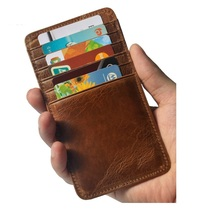 Buy KEVTI Genuine Leather Women Men's Credit card holder Vintage Cowhide ID Bank cards holders Cowboy Cool rough money purses for $5.88 in AliExpress store