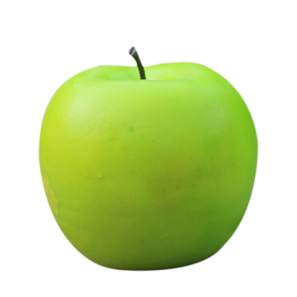 Top Grand Home Furnishing Fake Green Mini Apples Plastic Artificial Fruit House Party Kitchen Decor #V1N2