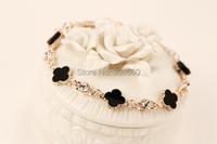 четыре листа любви браслет счастливица модные аксессуары шарм браслеты для женщин подарок