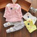 Fashion Toddler Baby Girl Cotton Spring Clothes Set Cartoon Pattern T shirt Long Pants Set fashion