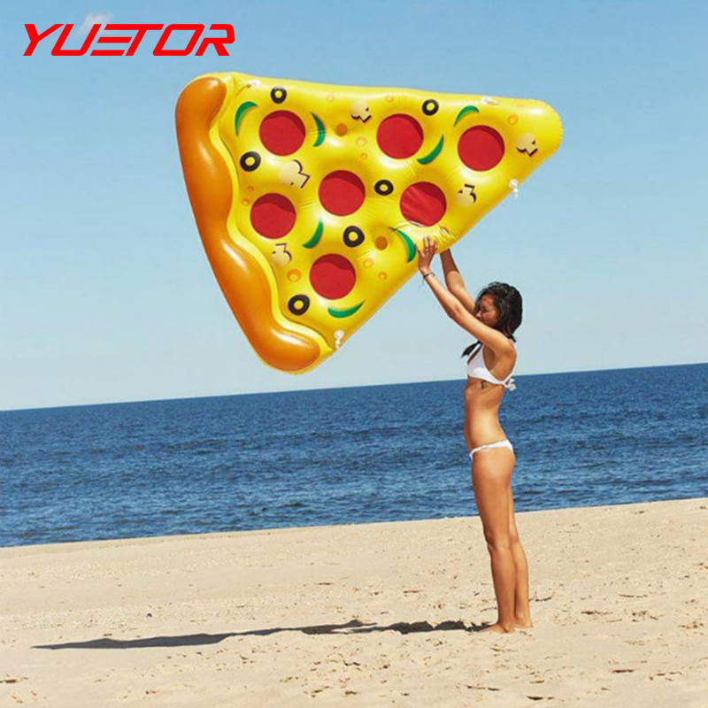 Brand YUETOR 180*150cm PVC thickness splice floating bed air mattress swimming toy water toy inflatable pizza(China (Mainland))