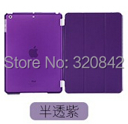 9 colors Ultra Slim Magnetic Smart Cover Leather Case with Matte back case for Apple iPad