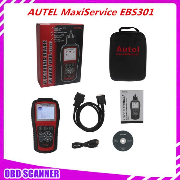100% Original EBS301 ELECTRONIC BRAKE SERVICE TOOL AUTEL MaxiService EBS301 OBDII/EOBD Brakes1 Year Free online software updates(China (Mainland))