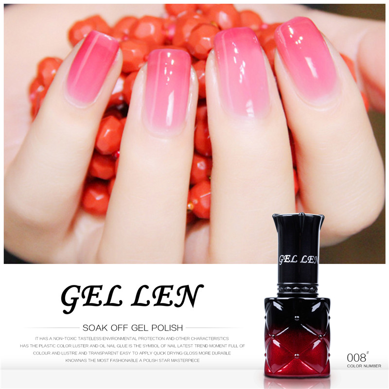 Gel Len 8ml Temperature Changing Nail Polish New Brand Change Color Varnish Led Lacquer - Beauty Store store