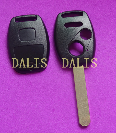 Best quality 2+1 button remote key shell for HOND no chip place / car key fob shell blank 10pcs/lot(China (Mainland))