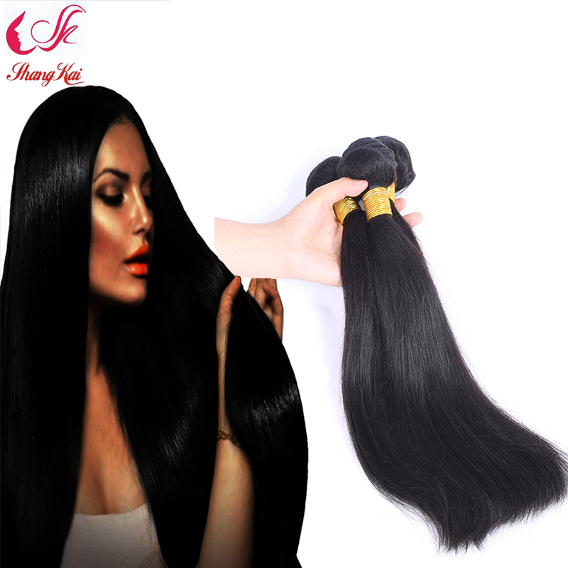 7A Queen Hair Product Malaysian Virgin Hair Straight 100 Unprocessed Virgin Malaysian Straight Hair Weaving 6-30 natural color<br><br>Aliexpress