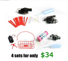 WLtoys V959 V222 V262 V912 interchangeable Spare Parts(Missile Launcher+Bubble Blower+Hook Basket+Water Cannon). Free Shipping.