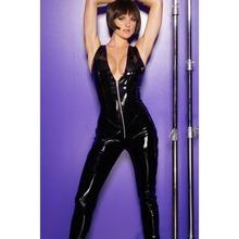 silver/black Leather Lingerie bodysuit catwomen
