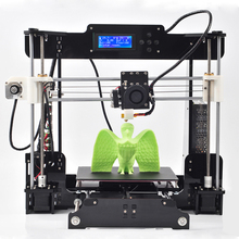 dhl shipping size220*220*235mm High Quality Precision Reprap Prusa i3 DIY 3d Printer kit with16GB TFcard+1roll PLA/ABS filament