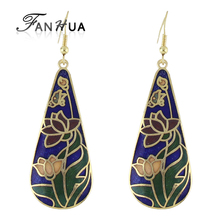 Bohemian Style Individual Colorful Enamel Water Drop Earrings New  Brincos Star Favorite Distinctive Jewelry(China (Mainland))