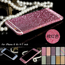 Luxury PVC Bling Rhinestone Sparkly Full Body Sticker Case For iPhone 6 6s Plus Matte Screen Protector Decals For iPhone 5s SE(China (Mainland))