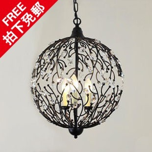 free shipping American style antique crystal luxury circle pendant light bar
