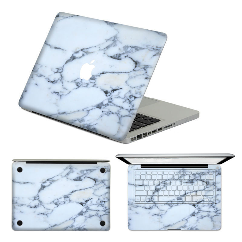 Laptop Sticker White Marble for Macbook Air Pro Retina 13'' Removable Sticker Keyboard Decal For MacBook 13 11 15 inch Mac Skin(China (Mainland))