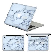 Ноутбук наклейки белый мрамор для MacBook Air Pro сетчатки 13 » съемный стикер клавиатура наклейка для MacBook 13 11 15 дюймов Mac кожи