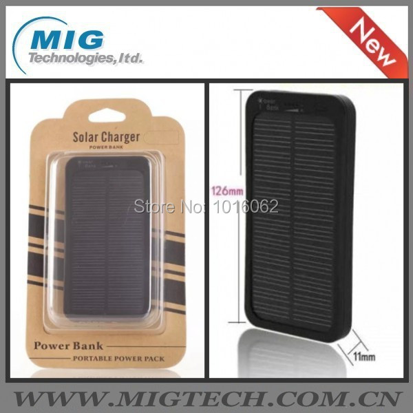 Freeshipping 1 portable power bank 5000mAH, Waterproof Dust-proof Solar charger Cell Phone - MIG Technology store