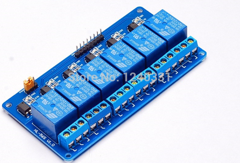 5PCS 6channel New 6channel relay module relay expansion board 12v low level triggered6way relay module for arduino(China (Mainland))