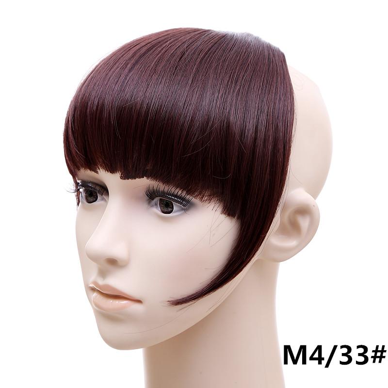 Jeedou короткий передний аккуратный челка клип короткая заколка для волос прямые 433.2_