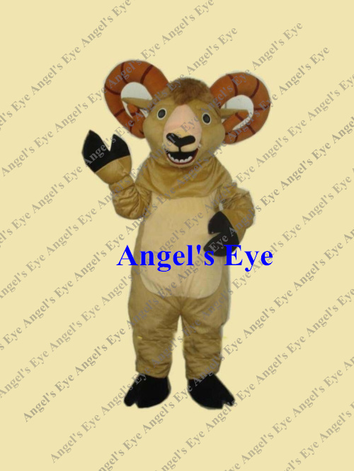 Promotion! Mascot Bighorn Ram Mascot Costume Adult Size Free Ship Cheap Price Desert Animal Mascotte Fancy Dress SW1305(China (Mainland))