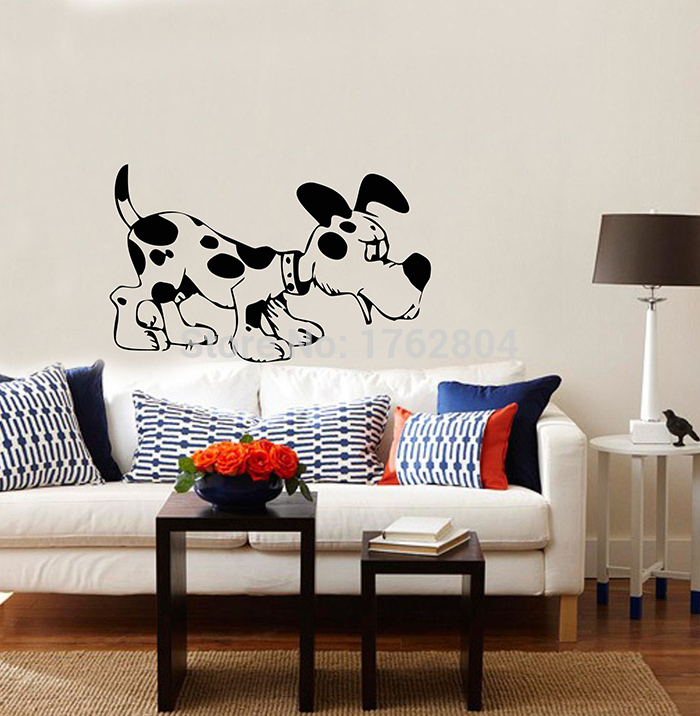 Diy Dog Wall Decor : Colors cute one large dog wall decor stickers kids baby
