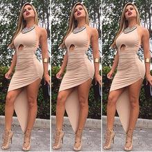 2015 Summer Dress After The Sexy Halter Dress Irregular Bandage Dress Halter Halter Lo Shi TC100