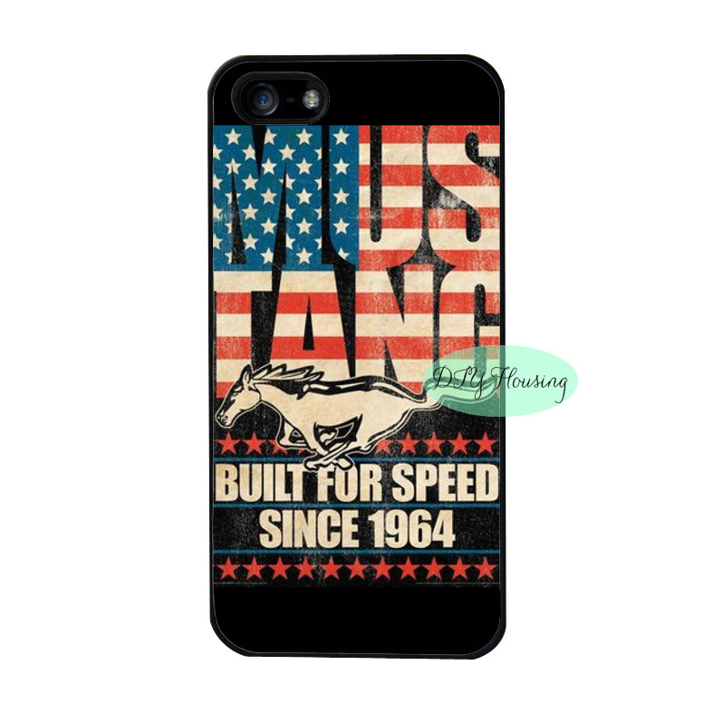 Ford Mustang us America flag case for iPhone 4s 5s SE 5c 6s Plus iPod 4 5 6 Samsung s3 s4 s5 mini s6 s7 edge plus Note 2 3 4 5(China (Mainland))