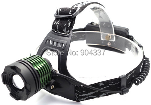 1800Lm CREE XM-L T6 LED Zoom HeadLight HeadLamp Zoomable Head lamp +2*18650 Battery +Power Charger + Car Charger(China (Mainland))