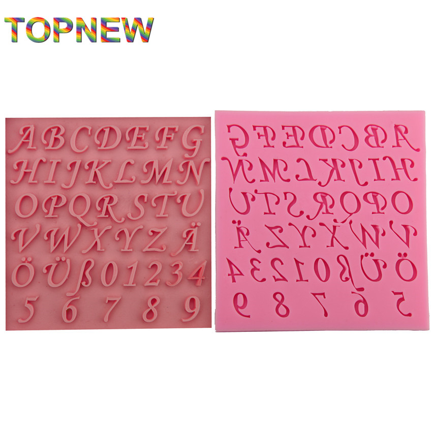 Cake Decorations Letters And Numbers : Aliexpress.com : Buy Letters and Numbers Silicone Mold ...