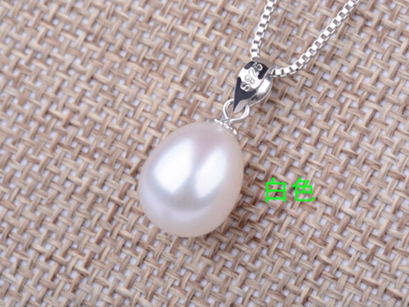 pearl pendant necklace silver jewelry (9)