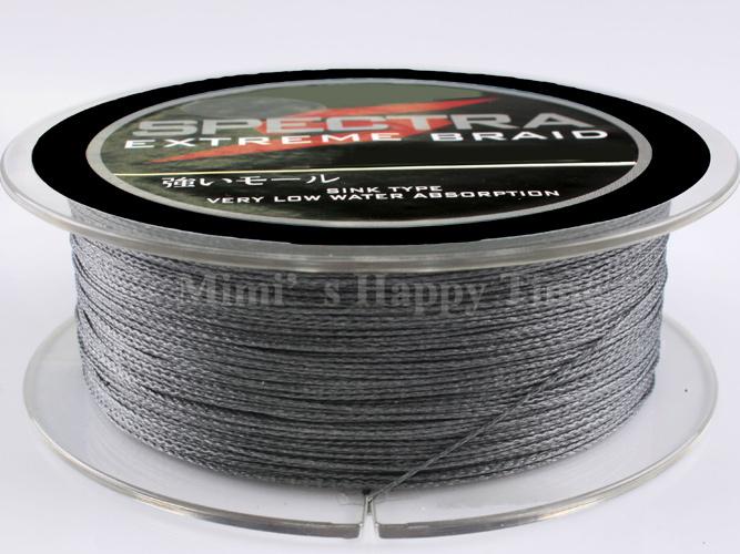 Hot sale PE Dyneema Braided Fishing Line 300M 90LB 0.5mm 328 Yard Spectra Braid Grey color(China (Mainland))