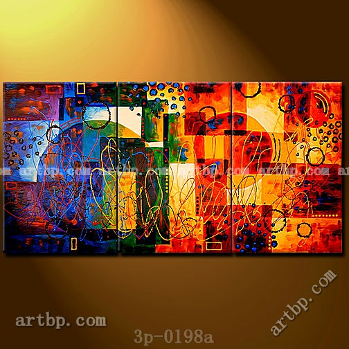 Planetary alignment ii oil painting on canvas modern wall for Cheap canvas paintings for sale