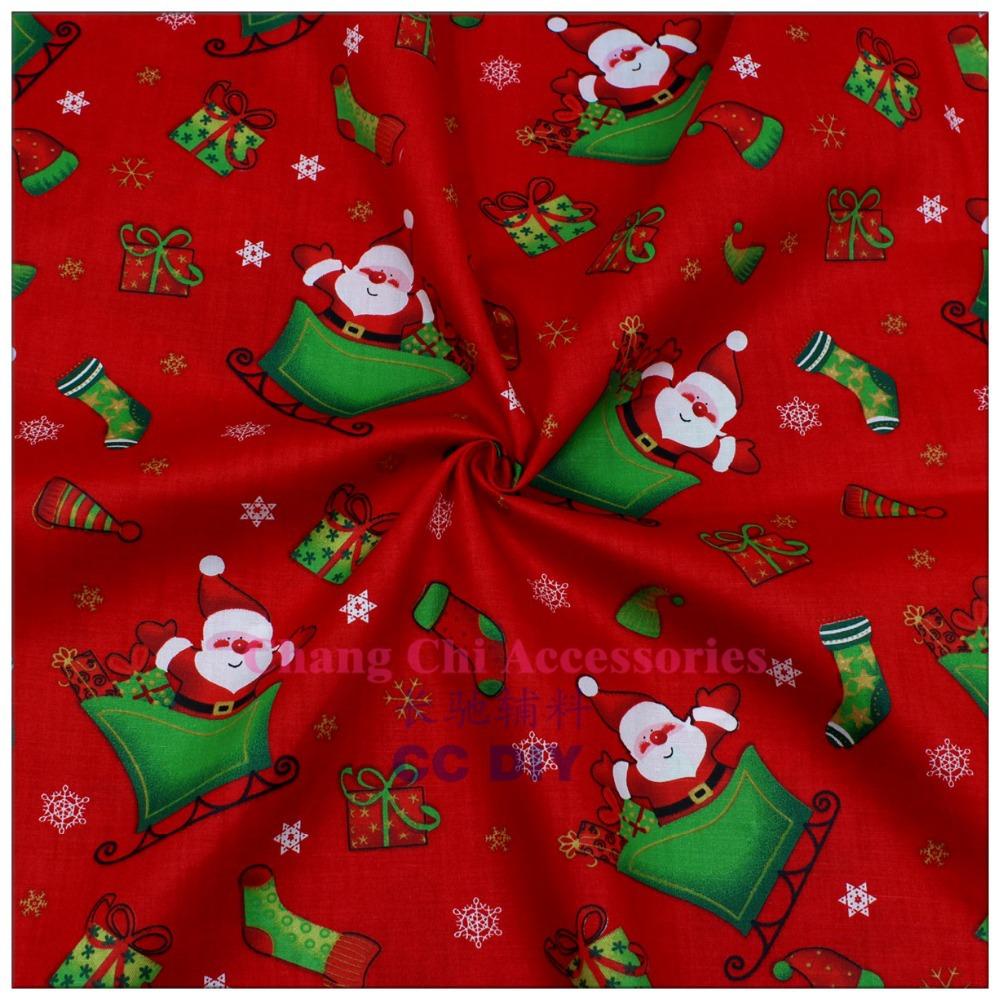 Free shipping 50cm 150cm cartoon Christmas series cotton fabric DIY handmade home textiles patchwork fabric 15071490