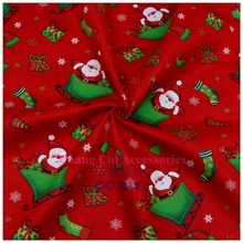 Free shipping 50cm * 150cm cartoon Christmas series cotton fabric, DIY handmade home textiles. patchwork fabric,15071490.