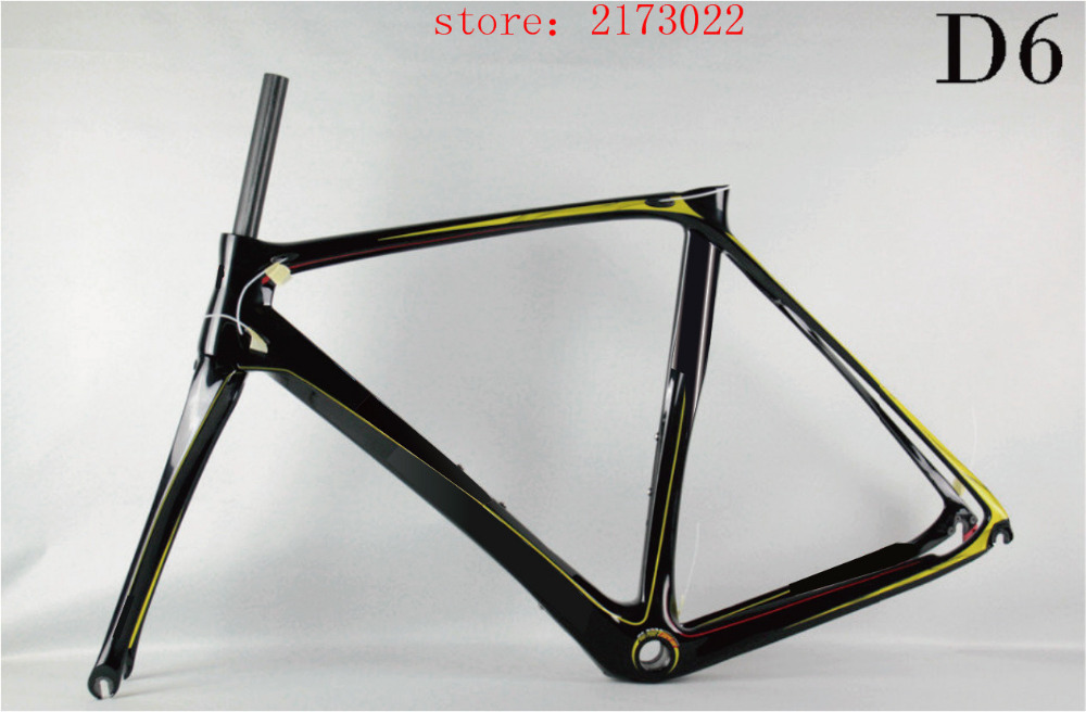 2016 100% new carbon frames D6 UD toray T800 road frame/Chinese factory wholesale full carbon bike frame DIY cadre carbone(China (Mainland))