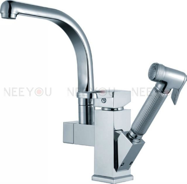 Pull Out Kitchen Mixer Faucet Two Function Free Shipping Thicken Chrome Finish Brass NY02697 Excellent Tap [Factory suppliers]