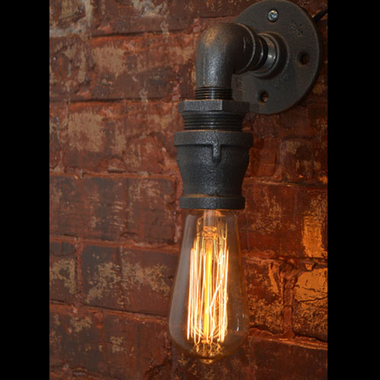 Wall Lamp Bar : Loft Vintage Nostalgic Industrail Lustre Water Pipe Edison Wall Sconce Lamp Resturant Hotel Bar ...