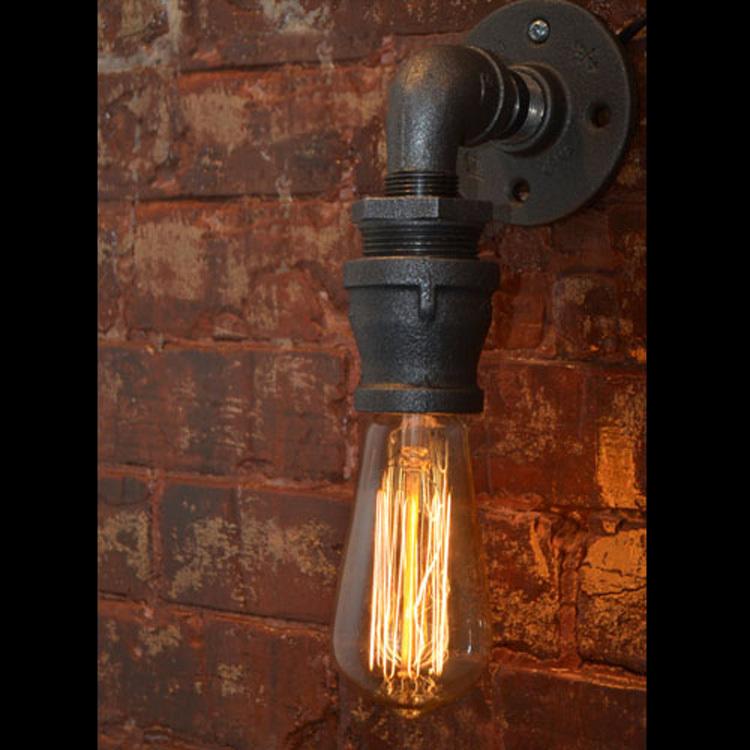 Loft Vintage Nostalgic Industrail Lustre Water Pipe Edison Wall Sconce Lamp Resturant Hotel Bar Stair Home Decor Modern Lighting<br><br>Aliexpress