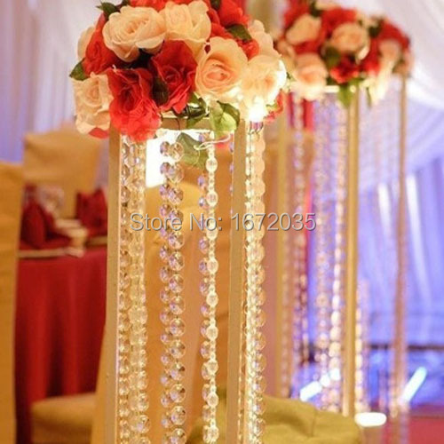 5meters/lot Glass Garland 14mm Beadss Octagonal Glass Crystal Strands Christmas Decor Free Shipping Modern House Design(China (Mainland))