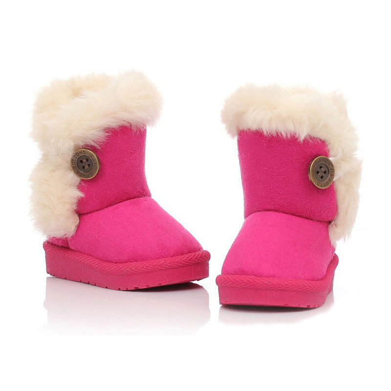 2016 Winter Children Boots Thick Warm Shoes Cotton-Padded Suede Buckle Kids Shoes Snow Boots Boys Girls Boots(China (Mainland))