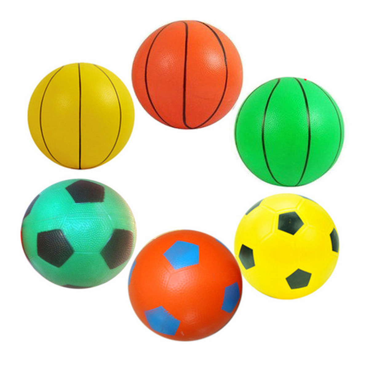 8-12cm Inflatable Football Basketball Beach Swimming Pool Soccer Ball Holiday Party Game Kids Toy Gift For Children(China (Mainland))