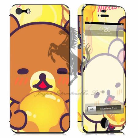 2014 Wholesale Cartoon Rilakkuma Full body skin sticker for iphone 5 5s skin sticker decal sticker free shipping(China (Mainland))