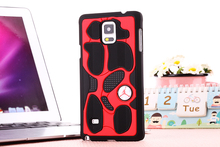 3D Jordan Shoe Sole PVC Rubber Jump man Back Cover For Samsung Galaxy Note 4 AJ13 Jordan's case cover For Galaxy N9100 cover(China (Mainland))