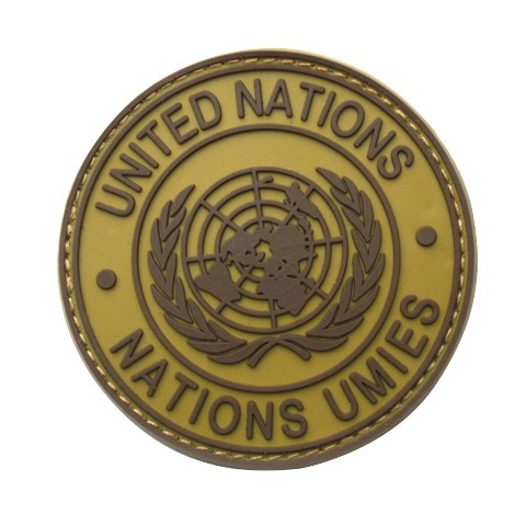 Patch Badge for International U.N UN United Nations Genuine Shoulder Round #gib(China (Mainland))