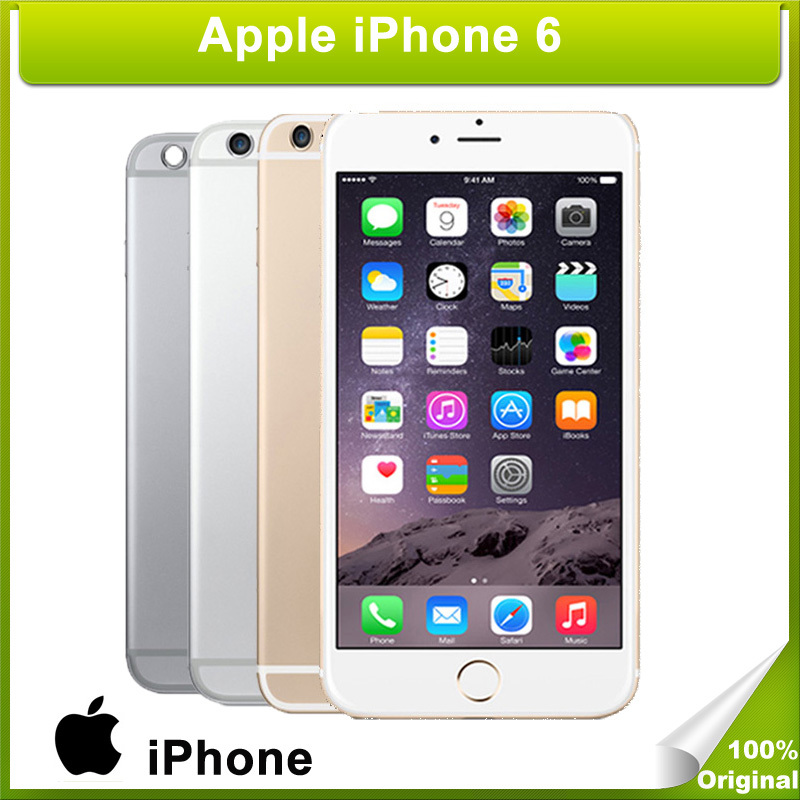 "Original Unlocked Apple iPhone 6 16/64/128GB ROM 1GB RAM 4.7"" IOS 8 Dual Core 1.4GHz phone 8.0 MP Camera 3G WCDMA 4G LTE Used(China (Mainland))"