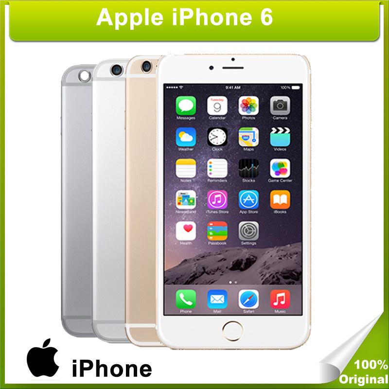 "Original Unlocked Apple iPhone 6 16/64/128GB ROM 1GB RAM 4.7"" IOS 8 Dual Core 1.4GHz  phone 8.0 MP Camera 3G WCDMA 4G LTE Used(China (Mainland))"